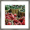 Bushels Of Green And Red Framed Print