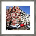 Busy Street Corner In London Framed Print