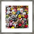 Buttons And Dice Framed Print