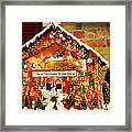 Candy Gingerbread House Framed Print