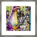 Carousal Dragon And Seal On A Merry-go-round Framed Print