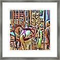 Carousel 7 Hdr Framed Print