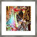 Carousel Dragon Framed Print