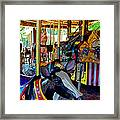 Carousel Fun Framed Print