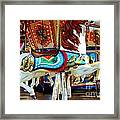 Carousel Horse With Fish Framed Print