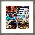 Carousel Horse With Leaves Framed Print