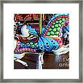 Carousel Horse With Sea Motif Framed Print