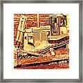 Cat Bulldozer . 7d10945 Framed Print