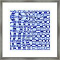 Catch A Wave - Blue Abstract Framed Print