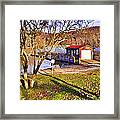 Catoctin Lake Boathouse Framed Print