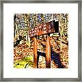 Catoctin Trail Sign Framed Print