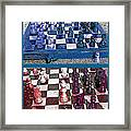 Chess Board - Game In Progress Diptych Framed Print