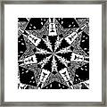 Children Animals Kaleidoscope Black And White Framed Print