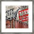 Chinatown Fence Framed Print
