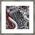Chopper Engine Framed Print