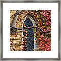 Church Window Autumn Framed Print