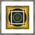 Circle Of Power Framed Print by Rotaunja