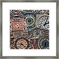 Clocks Of Paris Framed Print