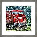 Coal Train Hdr Framed Print