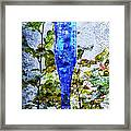 Cobalt Blue Bottle Triptych 1 Of 3 Framed Print by Andee Design