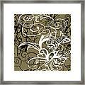 Coffee Flowers 1 Olive Framed Print