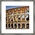 Coliseum Facade Framed Print