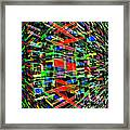 Colliding Dimensions Framed Print