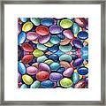 Colored Beans Design Framed Print