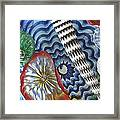 Colored Sea Things Framed Print