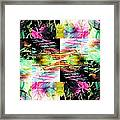 Colored Tubes Framed Print