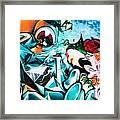 Colorful Abstract Graffiti Wall Framed Print