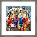 Colorful Banners At Surajkund Mela Framed Print