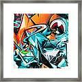 Colorful Graffiti Fragment Framed Print
