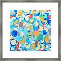 Colorful Partial Eclipses Framed Print