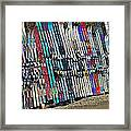 Colorful Snow Skis Framed Print