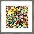 Colorful Sugar Framed Print
