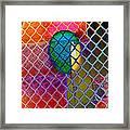 Colors Hiding Behind Fence Framed Print
