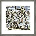 Colossus Of Rhodes Statue Framed Print by Sheila Terry