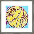 Coloured Tem Of A Mammal Mitochondrion Framed Print