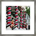 Columns In Christmas Wrap Framed Print