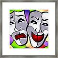 Comedy And Tragedy Framed Print