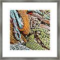 Commercial Fishing Nets And Rope Framed Print
