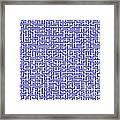 Complex Maze Framed Print