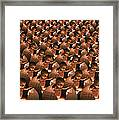 Conceptual Computer Artwork Of Human Cloning Framed Print
