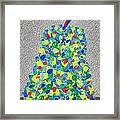 Cool Crazy Pear Abstract Painting Framed Print