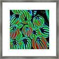 Cosmic Watermelon Leaves Framed Print