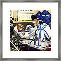 Cosmonaut Training, Soyuz Tma-8 Crew Framed Print