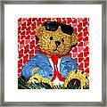 Country Bear Valentine Framed Print