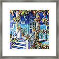 Country Porch And Flowers By Prankearts Framed Print