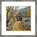 Covered Bridge 04 Framed Print